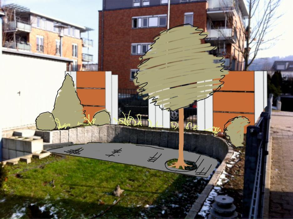 Sitzplatz mit Sichtschutz  Thomas Knebel Gärten gestalten